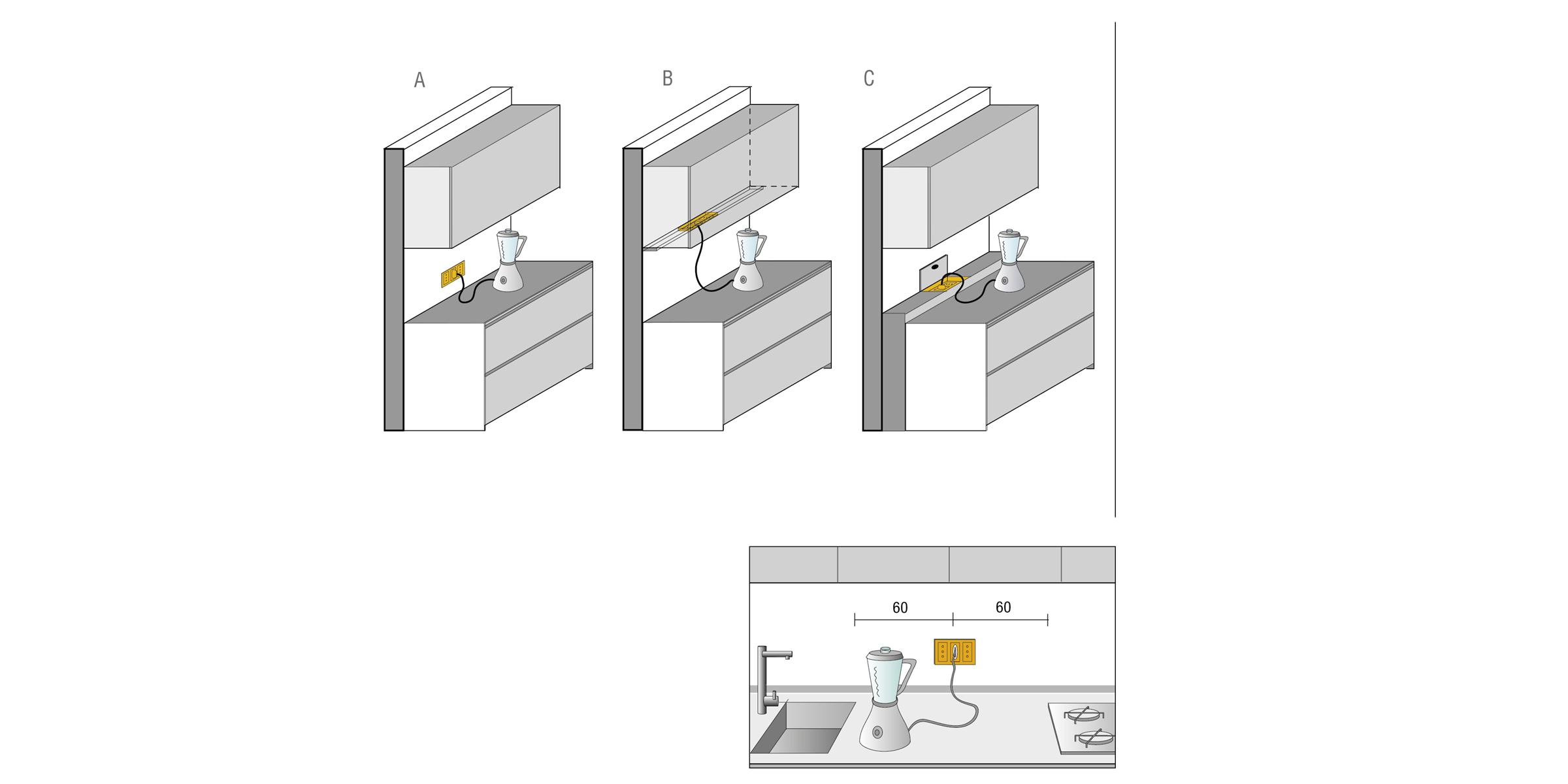 Kuchen Elektrosteckdosen Planung Valcucine