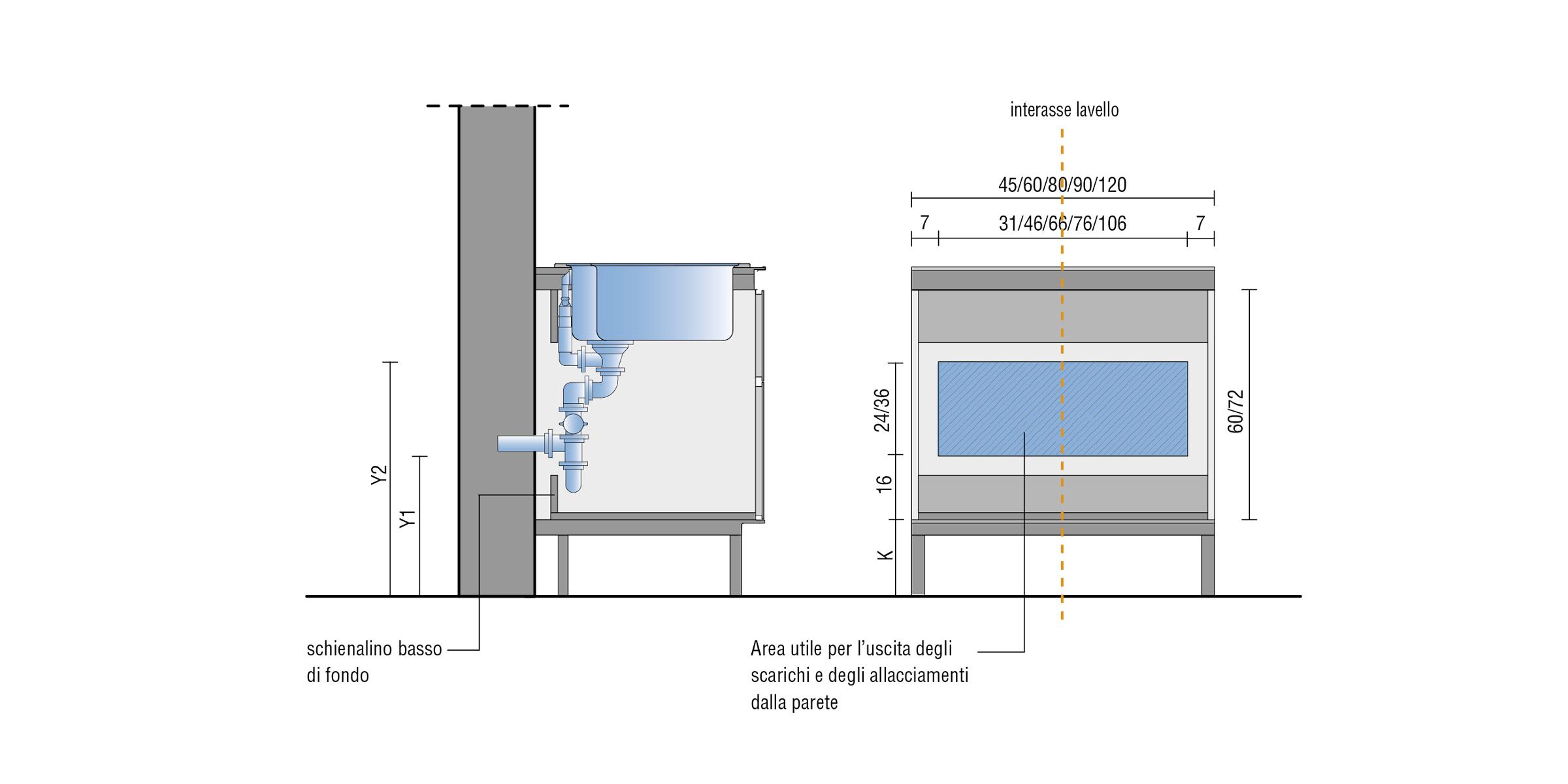 Altezza Cucina Ikea kitchen plumbing connections | planning | valcucine