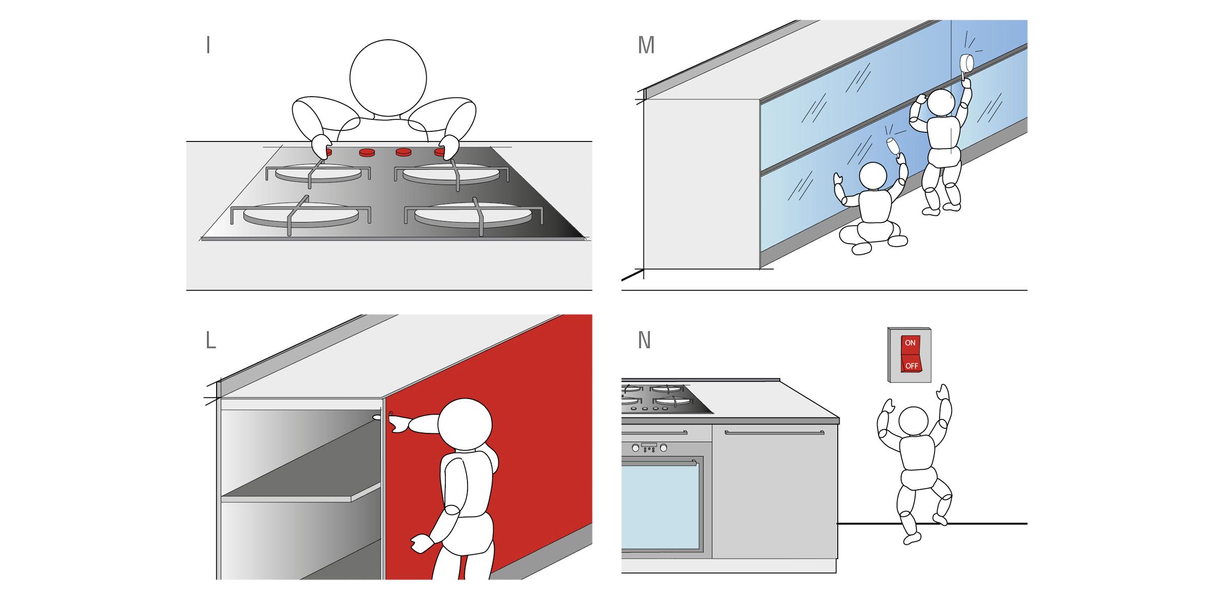 Sicurezza bambini in cucina progettazione valcucine - Foro nel muro della cucina per normativa gas ...