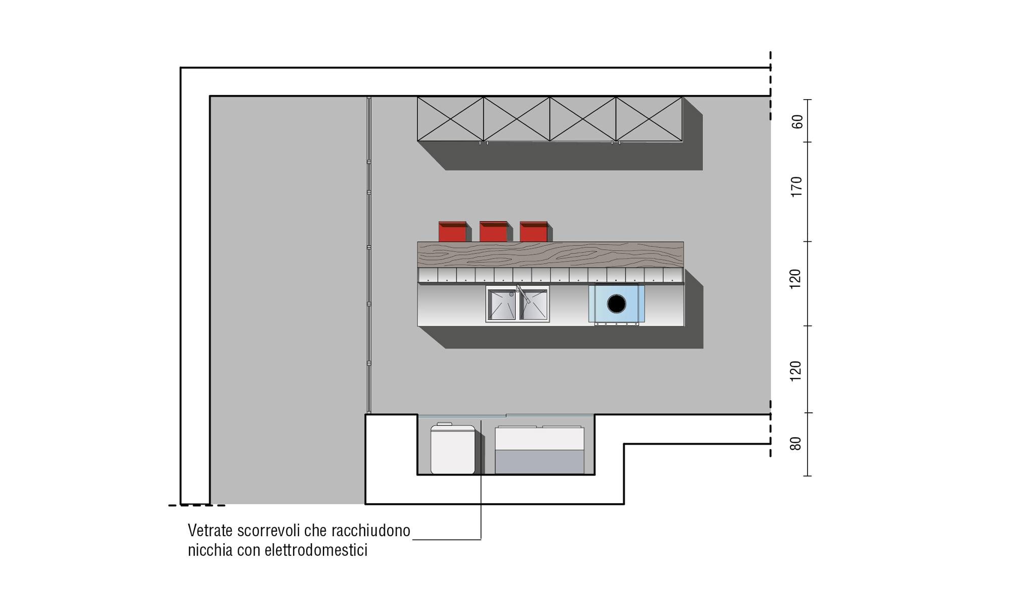 Pareti Scorrevoli Divisorie Cucina : Cucina con vetrate scorrevoli progettazione valcucine