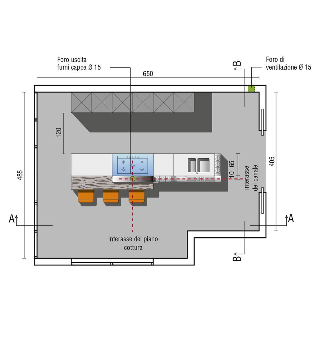 Misure Standard Piano Cottura Cucina cucine con isola | design | valcucine
