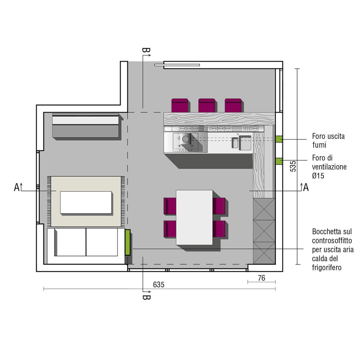 Cucine con penisola design valcucine for Porte archweb