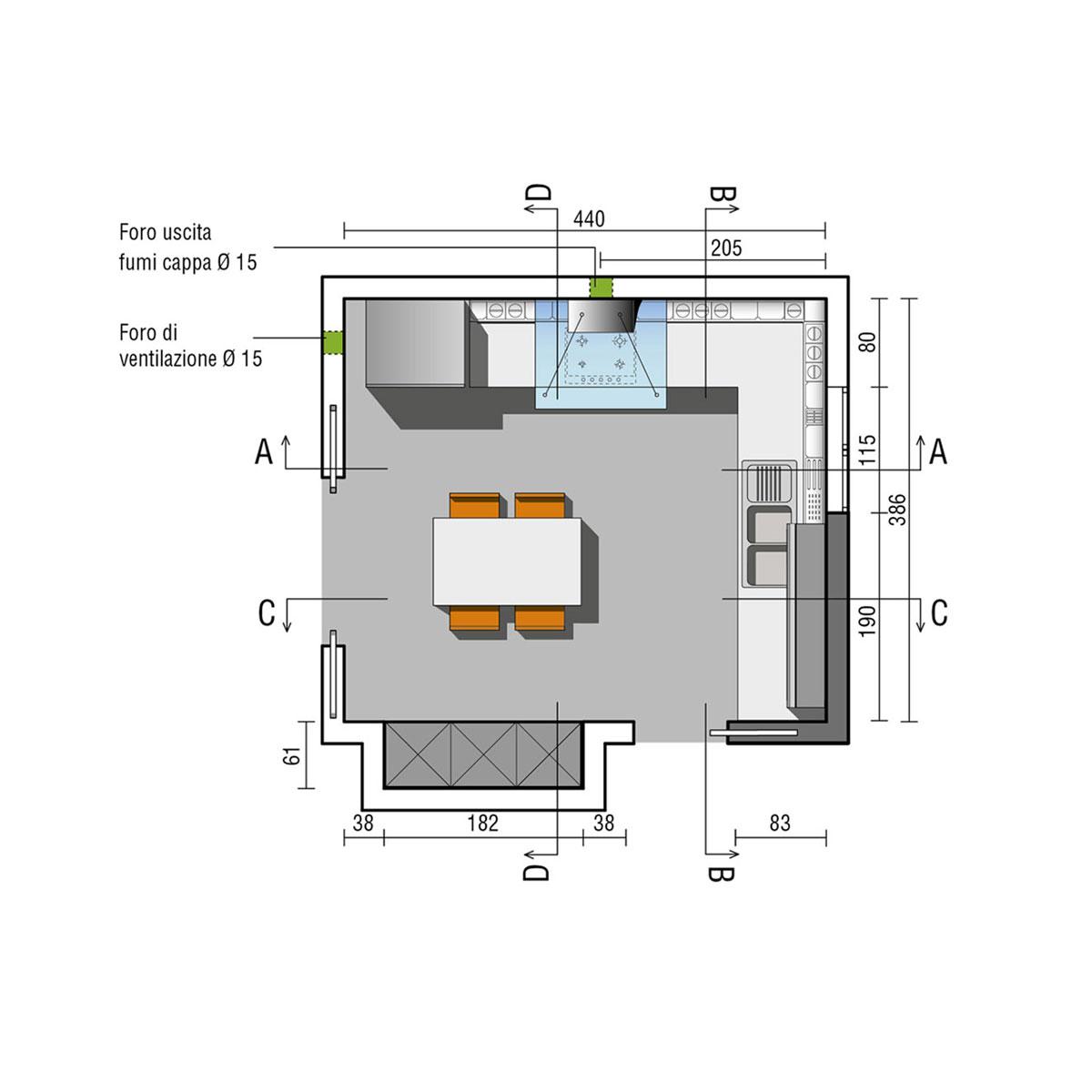 Progetti cucine angolari sq98 regardsdefemmes - Cucine angolari piccole dimensioni ...