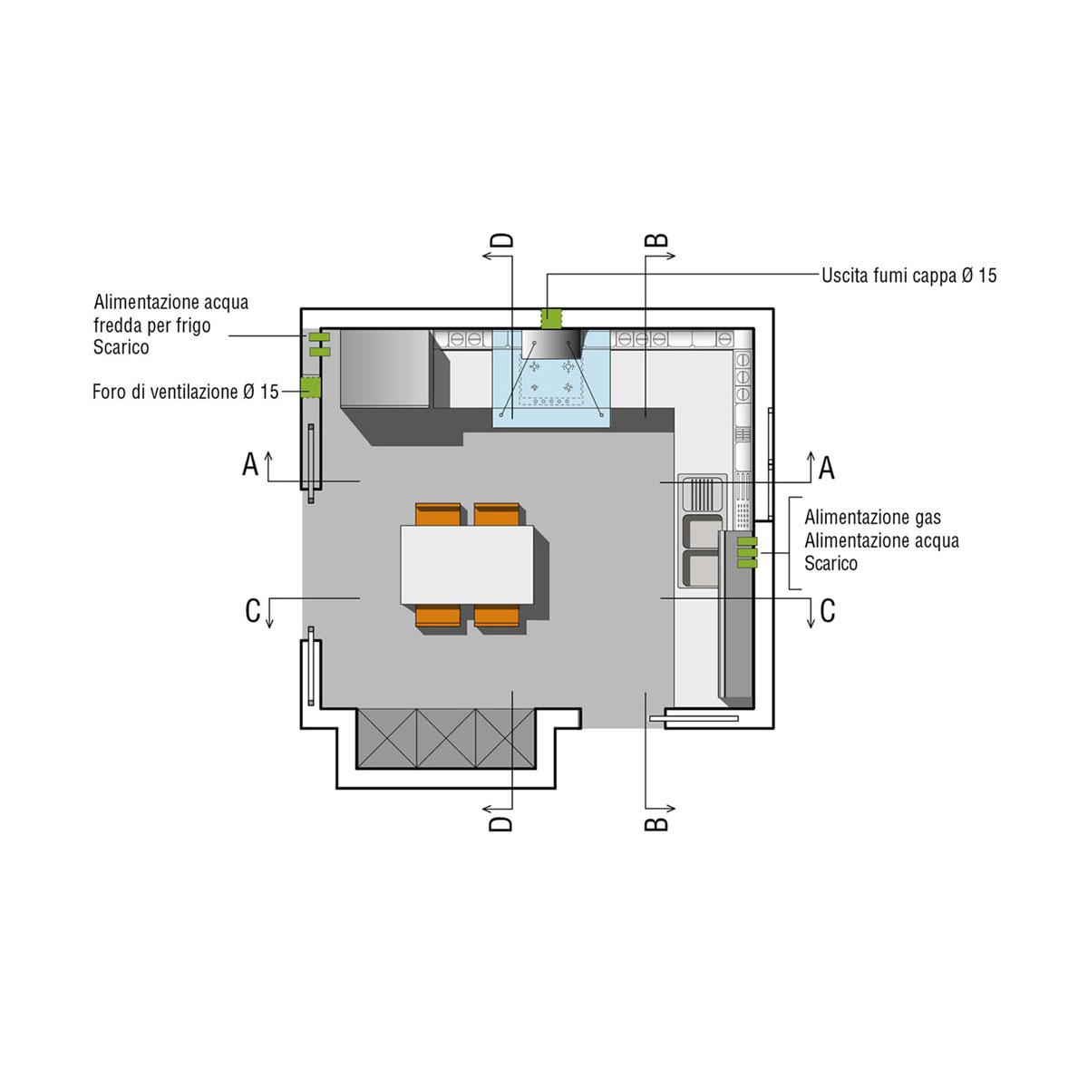 Cucine ad angolo design valcucine - Scarico fumi cucina ...