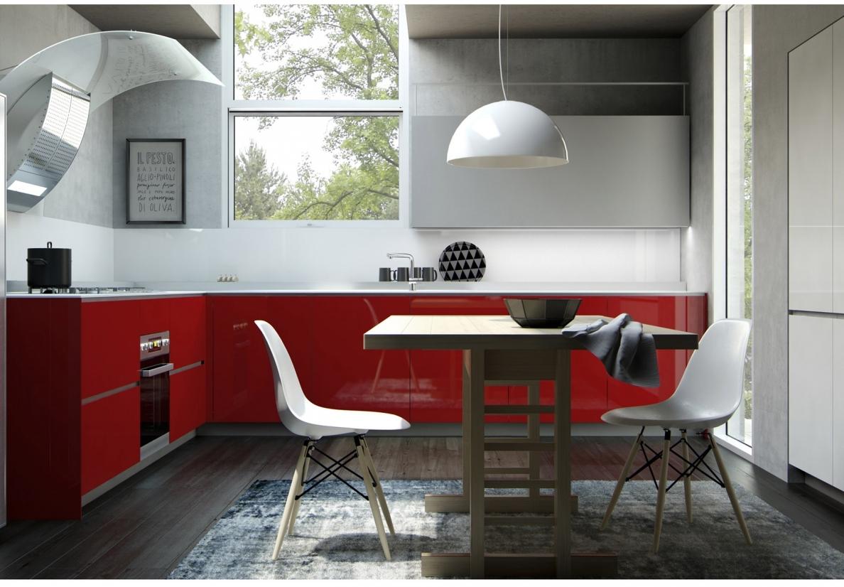 Cucina piccola angolare panca angolare con cuscini for Cuscini per panca ad angolo