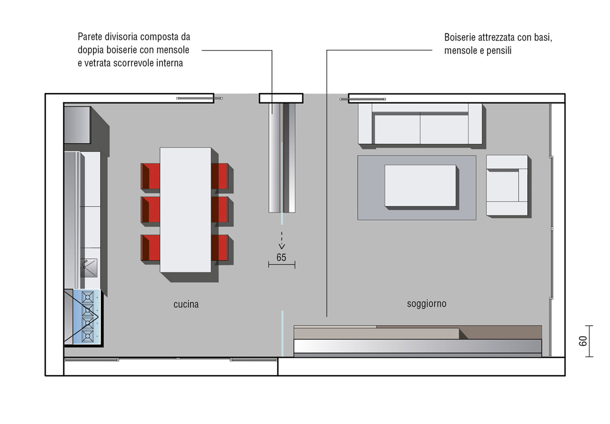 Cucina Con Vetrata Scorrevole kitchen planning: a guide and useful advice | valcucine